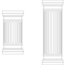 download Marble Columns clipart image with 45 hue color