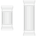 download Marble Columns clipart image with 135 hue color