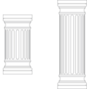 download Marble Columns clipart image with 225 hue color