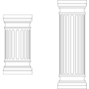 download Marble Columns clipart image with 315 hue color