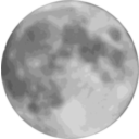 download Full Moon clipart image with 225 hue color