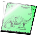 Dino Stamp In Stamp Mount