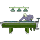 download Pool Table With Player clipart image with 45 hue color