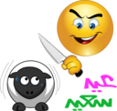Butcher Sheep Smiley Emoticon