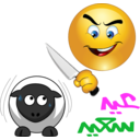 Butcher Sheep Smiley Emoticon