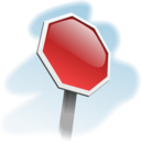 Stop Sign Angled