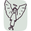download Angel clipart image with 45 hue color