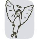 download Angel clipart image with 135 hue color