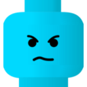 download Lego Smiley Angry clipart image with 135 hue color