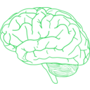 download Brain Profile 2 clipart image with 135 hue color