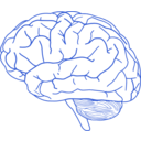 download Brain Profile 2 clipart image with 225 hue color