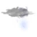 download Weather Icon Thunder clipart image with 45 hue color