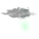 download Weather Icon Thunder clipart image with 315 hue color