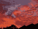 Sunset Over Houses