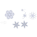 download A Snowflake clipart image with 45 hue color