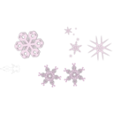 download A Snowflake clipart image with 135 hue color