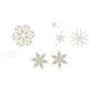 download A Snowflake clipart image with 225 hue color