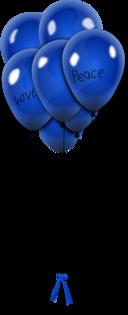 Balionai Balloons Blue