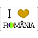 download I Love Romania clipart image with 45 hue color