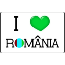 download I Love Romania clipart image with 135 hue color