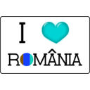 download I Love Romania clipart image with 180 hue color
