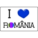 download I Love Romania clipart image with 225 hue color