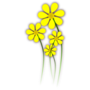 download Daisies clipart image with 0 hue color