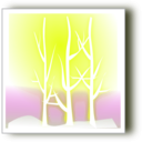 download Winter Silhoutte clipart image with 225 hue color