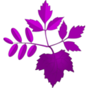 download Leaves clipart image with 225 hue color