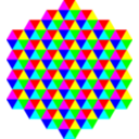 Hexagonal Triangle Tessellation