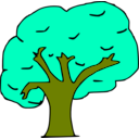 download Arbol clipart image with 45 hue color
