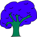 download Arbol clipart image with 135 hue color