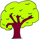 download Arbol clipart image with 315 hue color