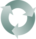 Three Circular Interlocking Arrows