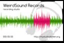 White Businesscard For Recording Studio