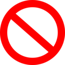 Panneau Interdit Forbidden Road Sign Basic