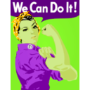 download We Can Do It clipart image with 45 hue color
