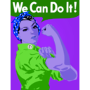 download We Can Do It clipart image with 225 hue color