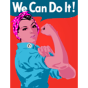 download We Can Do It clipart image with 315 hue color