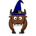 Cartoon Gnu Wizard