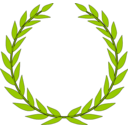 download Laurel Wreath clipart image with 315 hue color