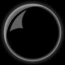 Button Round Shiny Black
