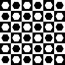 Hexagons In Chessboard