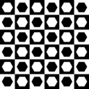 Hexagons In Chessboard