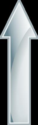 Glossy White Arrow