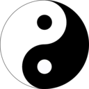 download Basic Yin Yang clipart image with 45 hue color