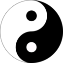 download Basic Yin Yang clipart image with 135 hue color