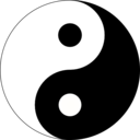 download Basic Yin Yang clipart image with 225 hue color