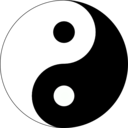 download Basic Yin Yang clipart image with 315 hue color