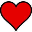 download Heart clipart image with 0 hue color